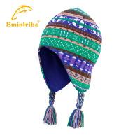 渔民部落秋冬户外男女帽子加绒透气 保暖加厚抗寒护耳帽针织帽运动帽  125111