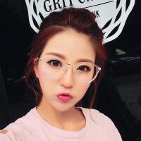 复古透明黑框眼镜框  防辐射手机平光镜 可配近视圆框眼镜架 休闲舒适眼镜