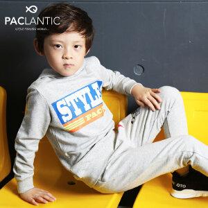 派克兰帝Paclantic 男女童针织连帽套头卫衣卫裤套装