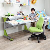 台湾进口 康朴乐儿童学习桌椅哈佛书桌+MATCH椅 可升降学习桌椅