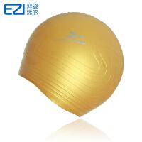 弈姿EZI 无皱纹比赛专用 硅胶 雕刻土豪金泳帽20049