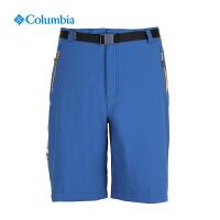 【满500减150】Columbia哥伦比亚户外17春夏新男款钛金系列抗污防晒五分裤AE1580