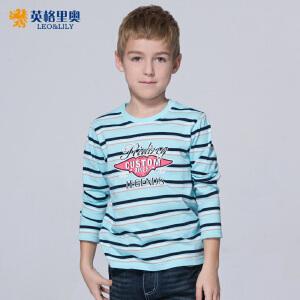 2017新款春装男童条纹圆领T恤长袖中大童纯棉童装儿童打底衫体恤