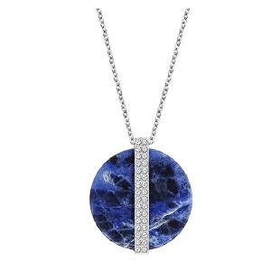 Swarovski/施华洛世奇 女士蓝色圆盘形复古吊坠项链 SWA5155646 支持礼品卡支付