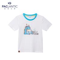 派克兰帝品牌童装 夏装男小童可爱毛毛虫图案短袖T恤 男童夏短T