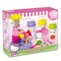 Hello Kitty凯蒂猫彩泥巧制冰淇淋糖果机模具无毒橡皮泥套装玩具