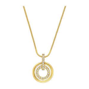 Swarovski/施华洛世奇 女士镀金色Circle双环项链 1081977 支持礼品卡支付