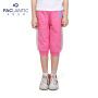 派克兰帝品牌童装 夏装女童运动针织七分裤 儿童裤子