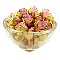 徐福记 奇欧比(八角型酱馅)巧克力 500g 散装称 花生/芝麻酱馅 新年糖果婚庆喜糖(代可可脂)