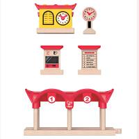 德国HapeE3702录放音&灯光火车站台儿童早教火车轨道配件玩具