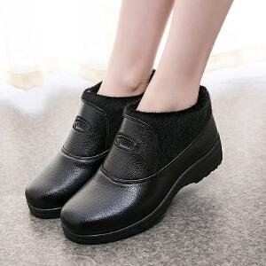 2016冬季新款休闲女棉鞋加绒棉靴保暖中老年女棉鞋韩版妈妈鞋