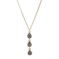 Arts & Crafts/A&C signature系列金色复古仿水晶水滴串女士项链 支持礼品卡支付