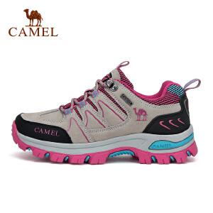 camel骆驼户外情侣款透气徒步鞋 男女减震防滑低帮户外鞋