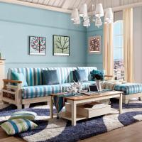 御品工匠 北欧简约 现代时尚 全实木沙发 布艺客厅家具 组合沙发 B03沙发