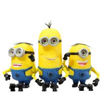 过影 小黄人摆件2015电影版公仔模型玩具3D眼睛书桌装饰生日礼物