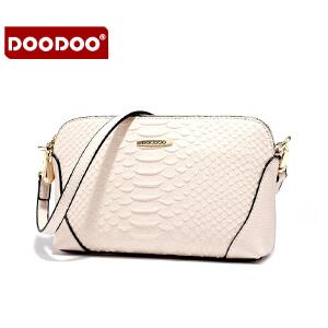 DOODOO 2017新款包包手包女包简约蛇皮纹百搭包日韩风范小包单肩斜跨女士小包包 D6031 【支持礼品卡】