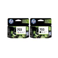 惠普原装HP703黑彩套装 703黑彩色墨盒套装k209a F735打印机墨盒 适用于 HP Deskjet D730/F735/K109A/K209A/K510A
