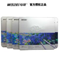 (支持货到付款哦)秘密花园 填色笔MARCO马可7100-24TN  36TN 48TN 72TN 24色油性彩色铅笔 马可彩铅 铁盒装