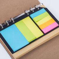 创意手帐贴纸 彩色分类百事贴便利贴 便签纸 可撕便签本 活页