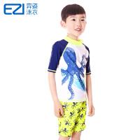 弈姿EZI儿童学生游泳衣防晒男童婴儿宝宝分体 冲浪服中大童 16060
