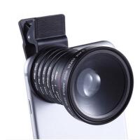 创勒手机单反镜头广角微距CPL星光滤镜通用套装拍照外置摄像头相RC