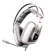 SADES/赛德斯 A8震动耳机头戴式 usb发光专业电脑游戏耳麦7.1声道