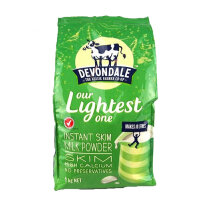 澳洲德运Devondale高钙脱脂老年学生女士 成人奶粉1kg 8袋装 海外购