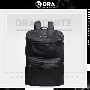 【支持礼品卡支付】DRACONITE欧美时尚双肩包男pu休闲旅行防水学生背包女电脑包11214