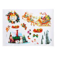 大贸商 卡通圣诞 图案 墙贴 韩国贴纸 节日装饰 SX10168