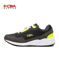 【618狂嗨继续】CBA男子跑步鞋 男士正品反绒皮慢跑鞋男款学生休闲鞋大码旅游鞋