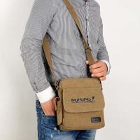 男包单肩包斜挎包帆布包男士小挎包韩版时尚休闲小包