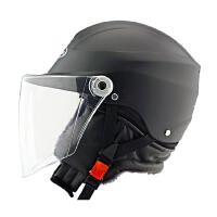 冬季电动车头盔女摩托车安全帽男半覆式四季通用半盔 男女通用