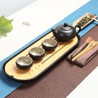 林仕屋 创意家用旅行便携功夫茶具陶瓷茶台干泡盘台竹茶盘茶具套装CJT1689