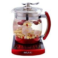 荣事金养生壶 红色SD-2500B 多功能防溢锅 2.5L大容量 加厚玻璃分体 煲汤 煎药壶 煮茶壶