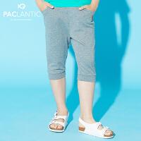 派克兰帝品牌童装  夏装男童时尚针织七分短裤 男童运动短裤