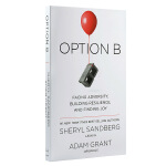 选项B 英文原版 人生修养 Option B Sandberg Sheryl 作者 Lean In向前一步 雪柔.桑德伯格 2017年新作