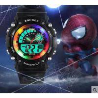 跑步运动个性   夜光防水小孩卡通儿童男童电子表    运动计时闹钟男孩手表
