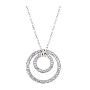 Swarovski/施华洛世奇 女士镀白金色水晶时尚圆圈项链 5071176 支持礼品卡支付