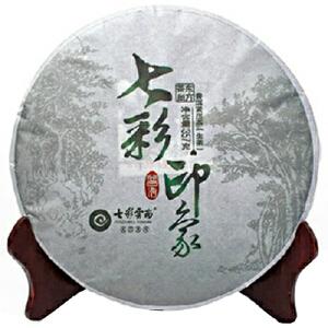 [当当自营]七彩云南普洱茶七彩印象生饼357g