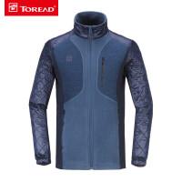 探路者正品秋冬新款户外运动服男装抓绒服长袖外套-KACE91562代