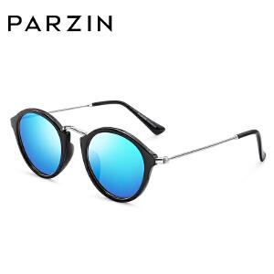 帕森儿童太阳镜 彩膜眼镜复古圆框潮墨镜男女偏光镜 新品D2006