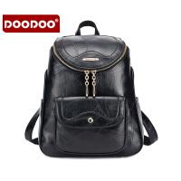 【支持礼品卡】DOODOO 包包2017新款双肩包欧美时尚背包休闲百搭多隔层学院风女士书包 D6085