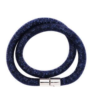 Swarovski/施华洛世奇 女士深蓝色双圈渔网手链 5102557 支持礼品卡支付
