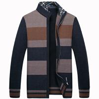 伯思凯2016秋季新款男士开衫 商务条纹毛衣立领针织外套