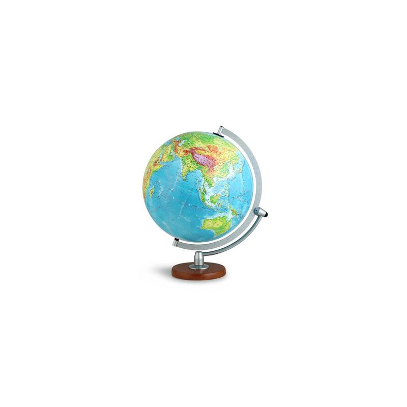 30cm中文数字地形立体地球仪-(led感应灯光型) 北京博目地图制品有限