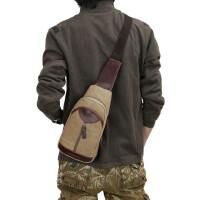 男士胸包单肩斜跨包多功能小包包休闲帆布包