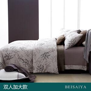贝赛亚 高端60支贡缎长绒棉床品 双人加大印花床上用品四件套 克莱顿