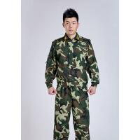 军迷户外休闲娱乐CS猎人迷彩服套装特种兵真人cs男女户外训练野战军训特训迷彩套装林地