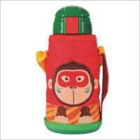 单品包邮 韩国小熊儿童卡通不锈钢保温杯 带保护套