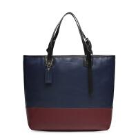 【COACH�f驰】男士拼色手提包 时尚潮流竖款文件包 真皮休闲款 71429